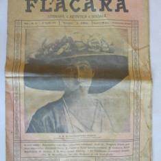 REVISTA FLACARA 21 APRILIE 1912 COPERTA CU REGINA MARIA, PRINCIPESA LA ACEA DATA - Revista culturale