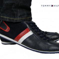 Pantofi sport Tommy Hilfiger - Model Nou - Piele Naturala - Pret special - - Pantofi barbat Tommy Hilfiger, Marime: 40, 41, 42, 43, Culoare: Bleumarin, Bleumarin