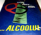 Cumpara ieftin Afis vechi realizat pe tabla, cu tematica antialcool  ( pentru automobilisti )