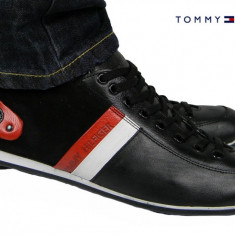 Pantofi sport Tommy Hilfiger - Piele Naturala - Pret special - LIVRARE GRATUITA - Pantofi barbati Tommy Hilfiger, Marime: 40, 41, 42, 43, Culoare: Maro, Negru