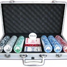 Set jetoane poker in geanta metalica - Masa de joc poker