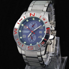 CEAS BARBATESC CURREN JAPAN SILVER CHRONOMETER2-CALITATE PESTE PRET !! DATA !!!, Casual, Quartz, Inox