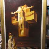 """TABLOU COPIE SALVADOR DALI,, Corpus Hypercubus sau Crucificarea"""" - Reproducere"""