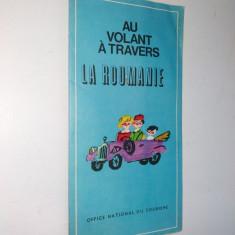Harta automobilistica anii '60, in limba franceza - La Roumanie - Fanion fotbal