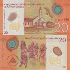 NICARAGUA- 20 CORDOBAS 2015- POLYMER- NEW- UNC!! - bancnota america