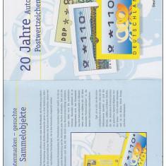 GERMANIA - 1999 - MAPA DE PREZENTARE TIMBRE DE AUTOMAT - Timbru de Automat
