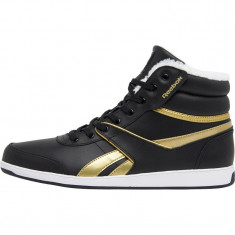 Adidasi Originali Reebok Royal Mid Black - Ghete dama Reebok, Culoare: Din imagine, Marime: 38