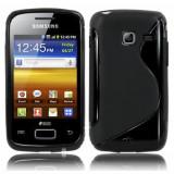 Husa Samsung Galaxy Y Duos S6102  TPU S-LINE Neagra, Negru, Gel TPU, Carcasa