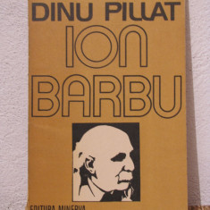 ION BARBU -DINU PILLAT - Studiu literar