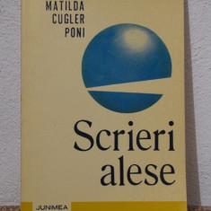 SCRIERI ALESE -MATILDA CUGLER PONI - Roman