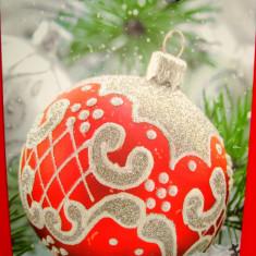 Punga / pungi cadou, model Sarbatori iarna Craciun 32/26/10 cm, 1 buc - Ornamente Craciun