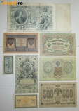 BANCNOTE VECHI. 4895-Set bancnote RUSIA TARISTA 8 bucati.