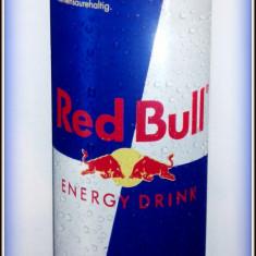 Reclama pe tabla de aluminiu - RED BULL Energy - Drink  (50cm x18cm)