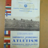 Campionatele internationale de atletism 1950 Bucuresti stadionul Republicii - Carte sport