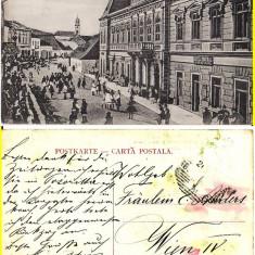 Salutari din Campulung Moldovenesc ( Bucovina, Suceava )- RR - Carte Postala Bucovina 1904-1918, Circulata, Printata