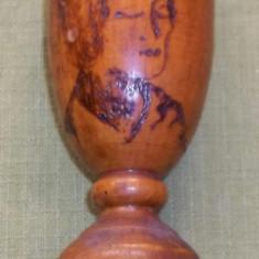 trofeu Yoga locul III 1979 lemn pirogravat