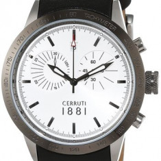Ceas original Cerruti CRA096A212G nou factura/garantie - Ceas barbatesc Cerruti, Casual, Quartz, Inox, Piele, Rezistent la apa