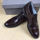 Pantofi PIELE NATURALA maro - Pantof barbat, Marime: 44, 45