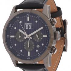 Ceas original Cerruti CRA108SU03BK nou factura/garantie - Ceas barbatesc Cerruti, Lux - elegant, Quartz, Inox, Piele, Cronograf