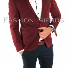 Sacou tip Zara Man grena - sacou barbati- sacou casual elegant- cod 5588, Marime: 44, 46, 48, Culoare: Din imagine