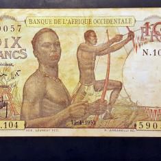 Africa Occidentala 10 Francs 1953 P#37 - bancnota africa
