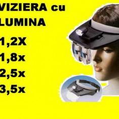 Viiziera LUPA cu ILUMINARE  4 lupe (lentile)