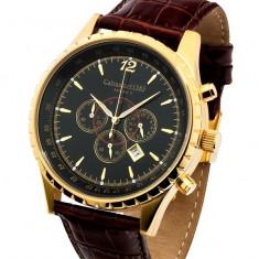 Calvaneo 1583 Aerostar II Black Gold, factura - Ceas barbatesc Calvaneo, Lux - elegant, Quartz, Inox, Piele, Cronograf