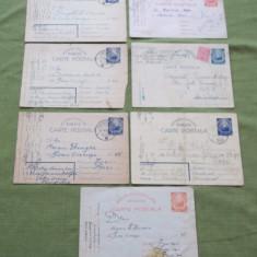 Lot sapte carti postale neilustrate RPR, Altul, Romania de la 1950
