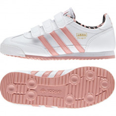 Adidasi pentru Copii Adidas Dragon CF 100% ORIGINALI adusi din germania nr 34 - Adidasi copii, Culoare: Alb, Fete, Piele naturala