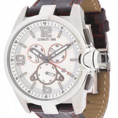 Ceas original Cerruti CRA088N213G nou factura/garantie - Ceas barbatesc Cerruti, Fashion, Quartz, Inox, Piele, Cronograf