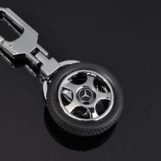 Breloc modern forma roata auto pentru mercedes + cutie simpla cadou - Breloc Auto Mercedes-benz