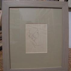 RODICA MANIU/ DESEN /FEMEIE - Pictor roman, Portrete, Carbune, Altul