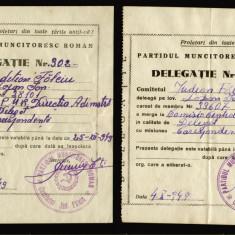 2 Delegatii PMR stampila Comitetul judetean Falciu din 1949, propaganda comunism