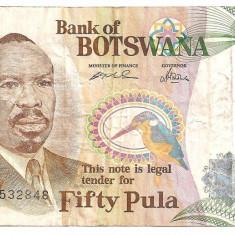 BOTSWANA 50 PULA ND(2000) F - bancnota africa