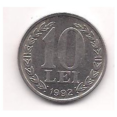 No(4) moneda- ROMANIA- 10 Lei 1992, An: 1944