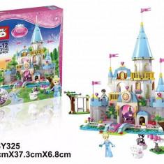 SET CONSTRUCTIE URIAS DIN PIESE TIP LEGO, CASTELUL LUI CINDERELLA, 669 PIESE.NOU. - LEGO Castle