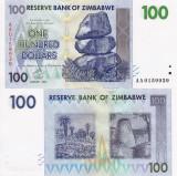 ZIMBABWE 100 dollars 2007 UNC!!!