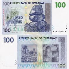 ZIMBABWE 100 dollars 2007 UNC!!! - bancnota africa