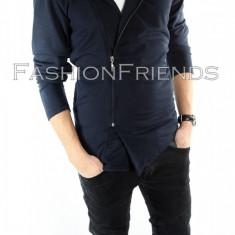 Hanorac tip ZARA fashion bleumarin - hanorac barbati - cod produs: 5552, Marime: M, L, XL, Culoare: Din imagine