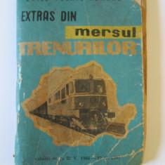 EXTRAS(12 X 8, 5 CM) DIN MERSUL TRENURILOR 22.05.1966-27.05.1967