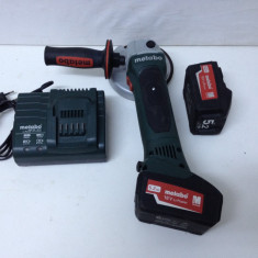 Polizor Unghiular Marca METABO W 18 LTX  de 18V si 5,2 Ah, Fabricatie 2015