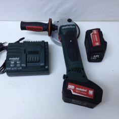 Polizor Unghiular Marca METABO W 18 LTX de 18V si 5, 2 Ah, Fabricatie 2015