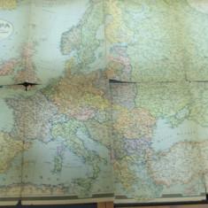 Europa 1932 harta color compusa din 4 parti Unirea Brasov - Harta Europei