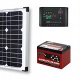 Sistem Solar Fotovoltaic Complet Pentru Iluminat Charger 12 V 20 W Lumina GRATIS - Panou solar