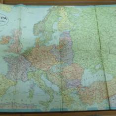 Europa 1940 harta color Unirea Brasov