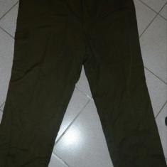 Pantaloni de stofa, marime XXL, marimea 58, pentru barbati, dublati, khaki - Pantaloni barbati, 2XL, Lungi, Poliester