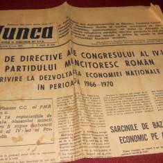 ZIARULMUNCA 05.06.1965 PROIECT DIRECTIVE PARTIDUL MUNCITORESC ROMAN