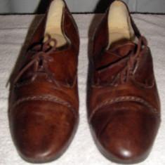 Pantofi dama Vintage din piele Passi Sereni Italia marimea 38 - Incaltaminte vintage