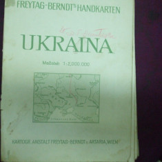 Ucraina 1941 harta color Viena