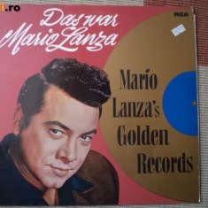 Mario lanza golden records disc vinyl lp Muzica Clasica rca records culta opera rca ed vest, VINIL